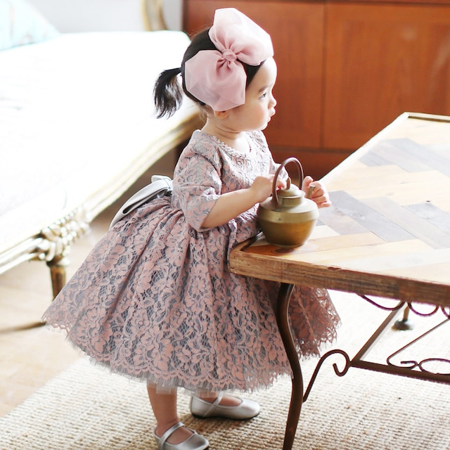 【ノースリーブor五分袖or長袖 】子供ドレス 舞台装 女の子 ワンピース 80-150 プレゼント 誕生日 レース