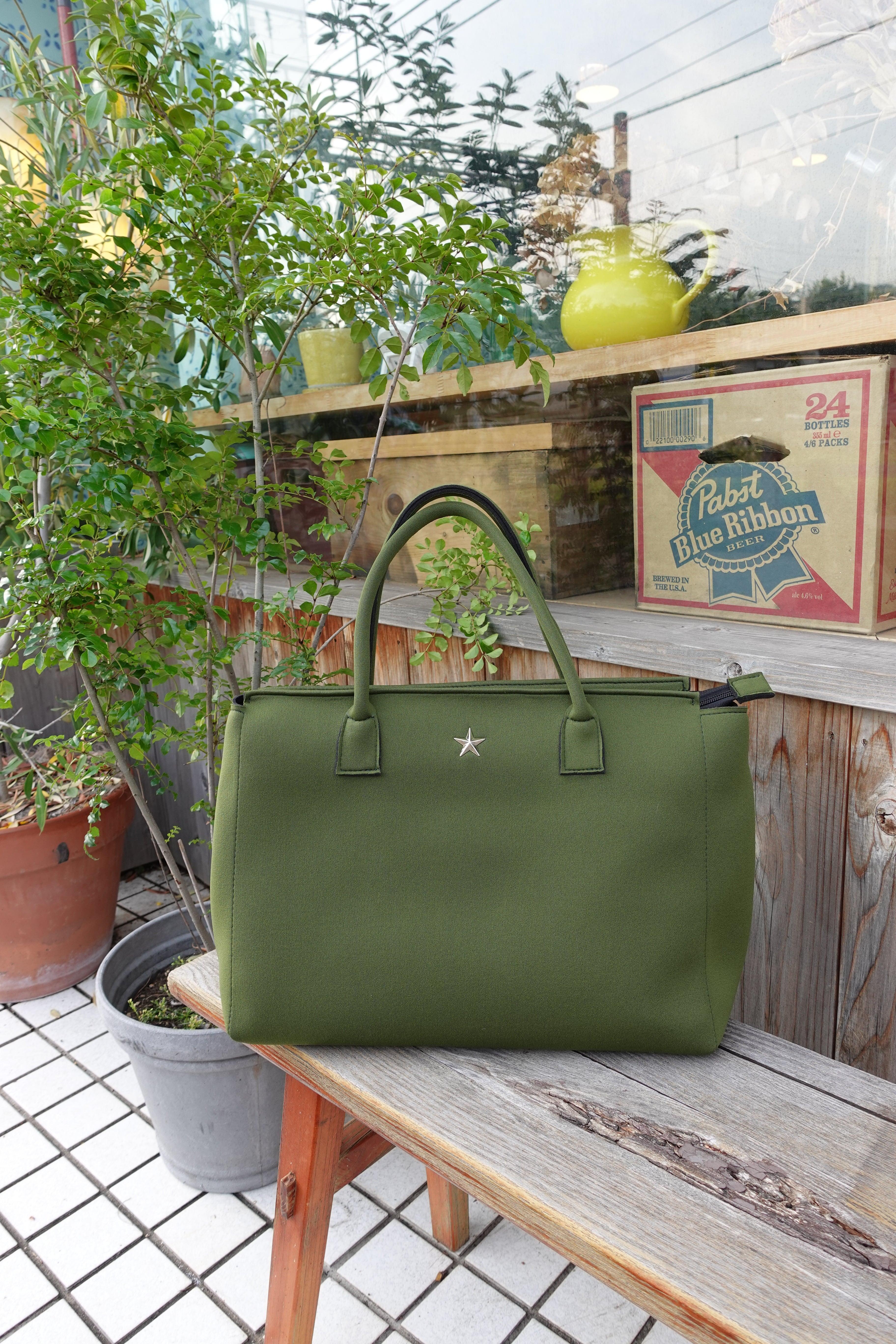 Emie's Bag カーキ(ウェットスーツ素材)