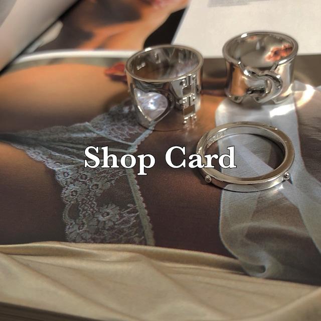 ショップカードのご案内