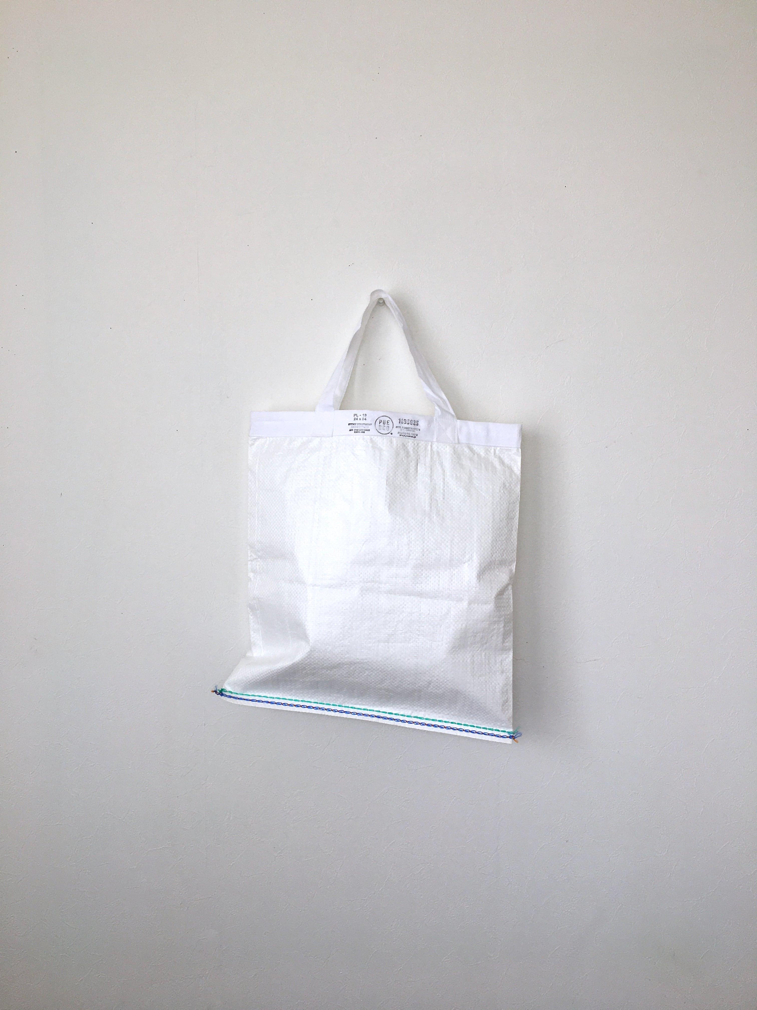 ショッピングバッグ ホワイト M|Shopping Bag White 42x39(PUEBCO)