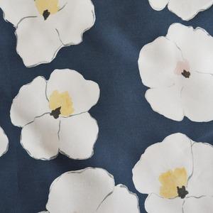 < ウォーホルの花 > indigo コットンリネンキャンバス生地 45cm x 68cm