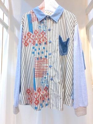 NIGATSU パジャマシャツ Charcoal blue