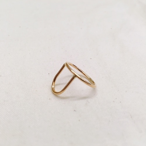 【ANOTHER FEATHER】ARCH RING / A=14K GOLD/NO.22