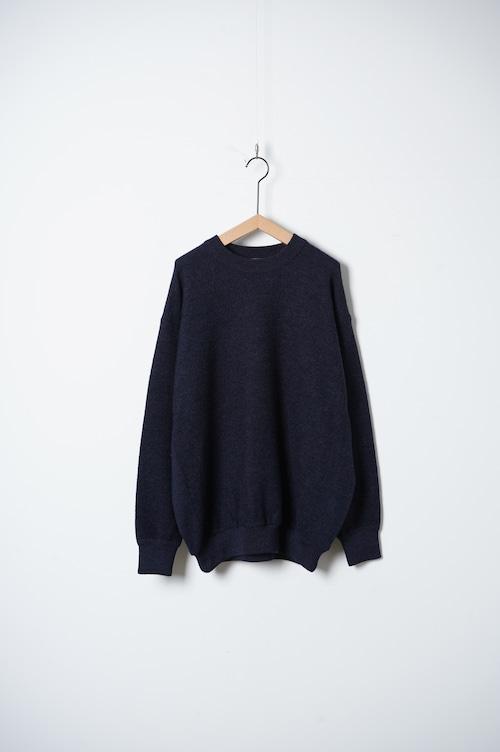CREW  KNIT garment wash/OF-N027