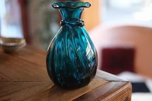 【倉敷ガラス・小谷栄次】◆◆◆花瓶◆◆◆小谷ブルー◆◆◆