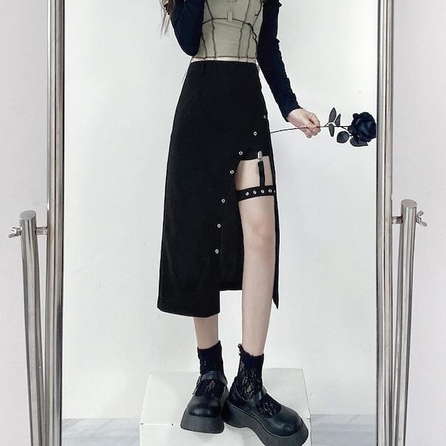 【ボトムス】ファッションセクシーA字スリットスカート49431082