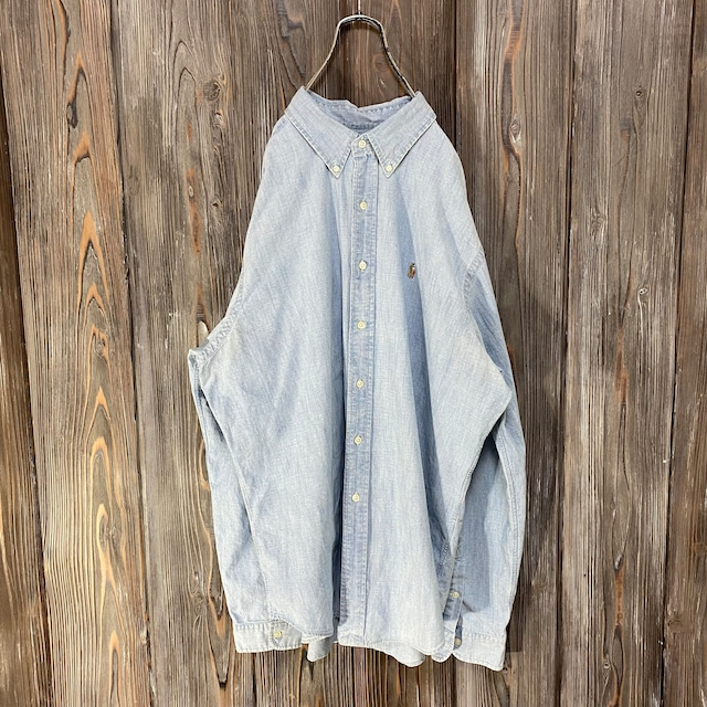 [Ralph Lauren]denim blue shirt