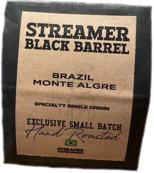 BRAZIL MONTE ALEGRE 100g (STREAMER BLACK BARREL - SPECIALTY SINGLE ORIGIN SERIES)