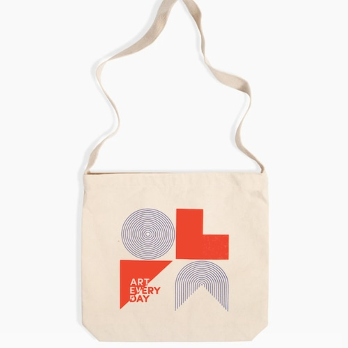 """Poketo """"AED Geometric Sling Tote in Red/Blue"""" トートバッグ"""