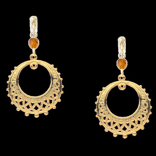 Arabian Czech Beads Pierced Earrings