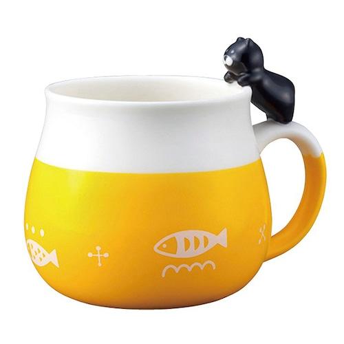 ニャコット マグカップ(黒猫)(B-3-020B)