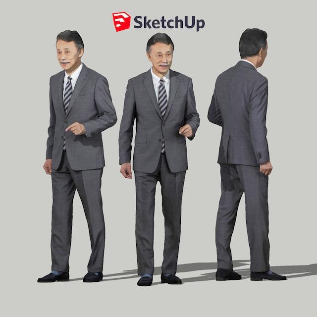 SketchUp素材 3D人物モデル ( Posed ) 045_Ken - メイン画像