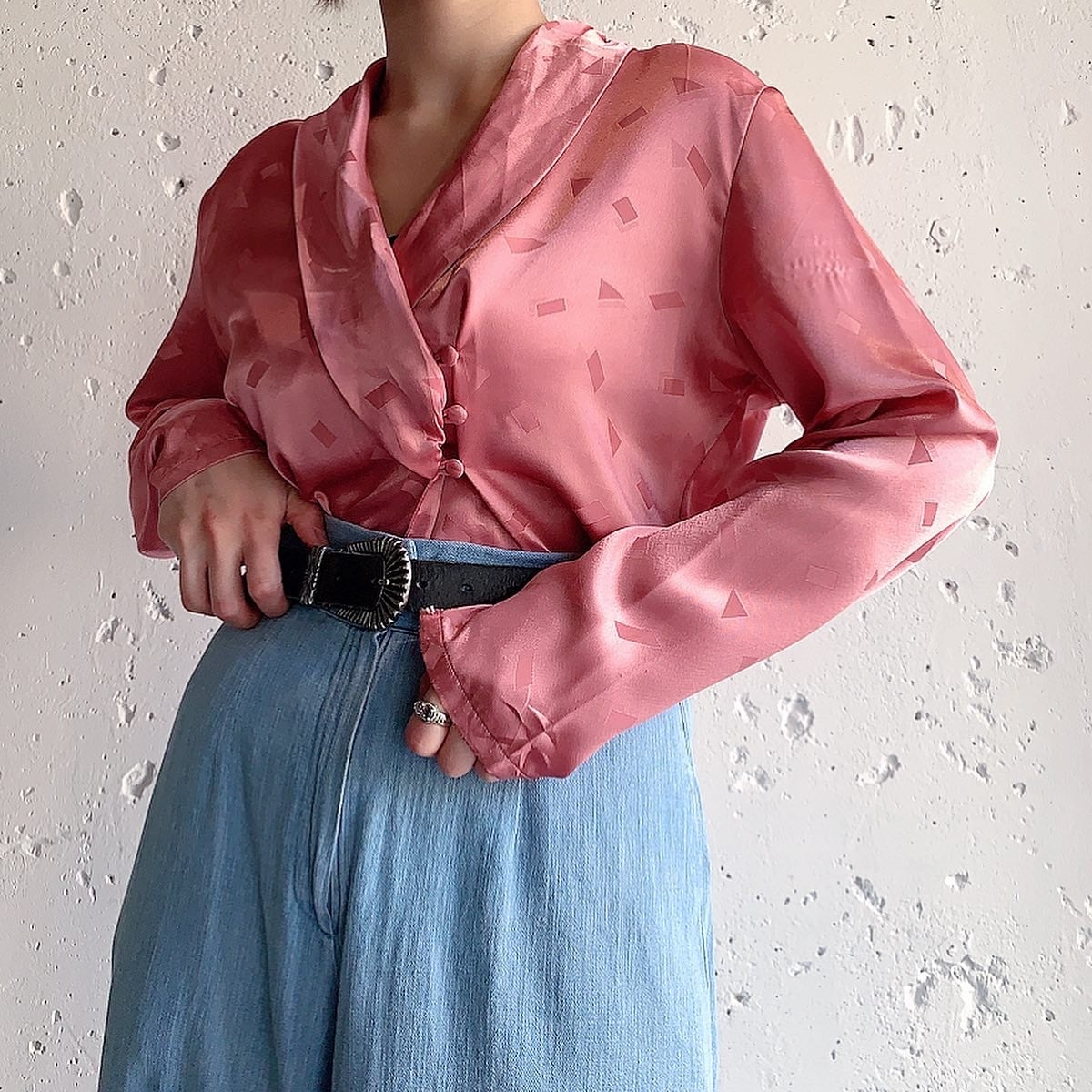 vintage blouse -cherry blossom pink-