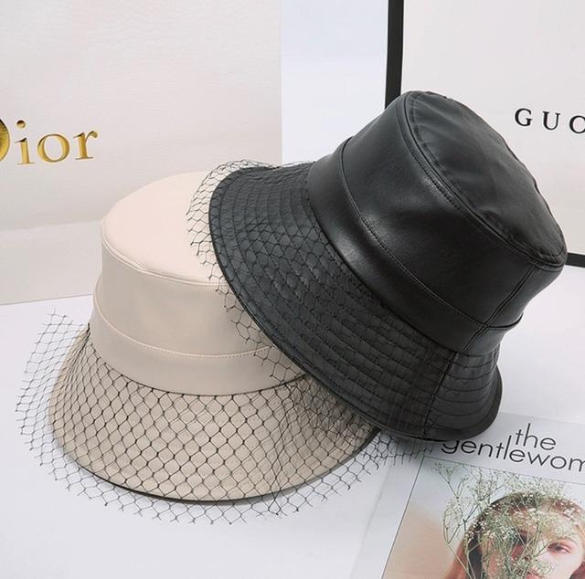 PU bucket hat 2color