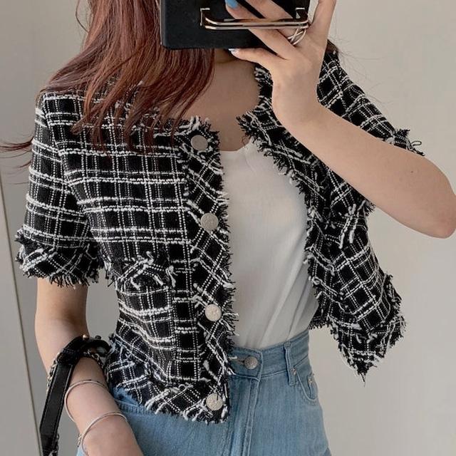 summer tweed coat 2color