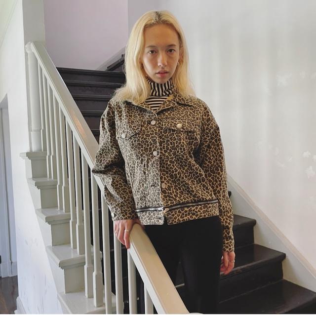 【ASHLEY】leopard jacket
