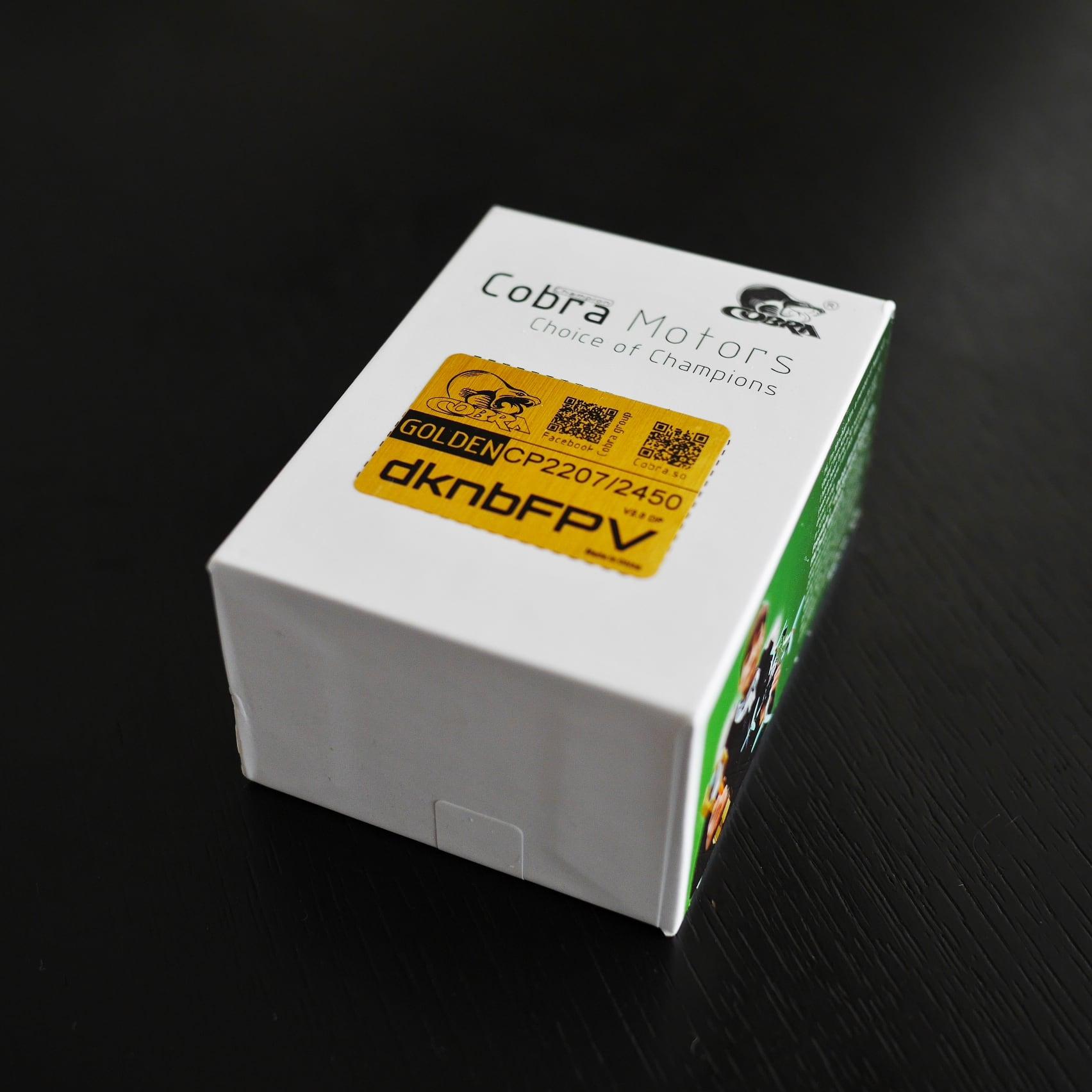 【単品】Cobra Motor CP2207 2450kv Golden Ver2