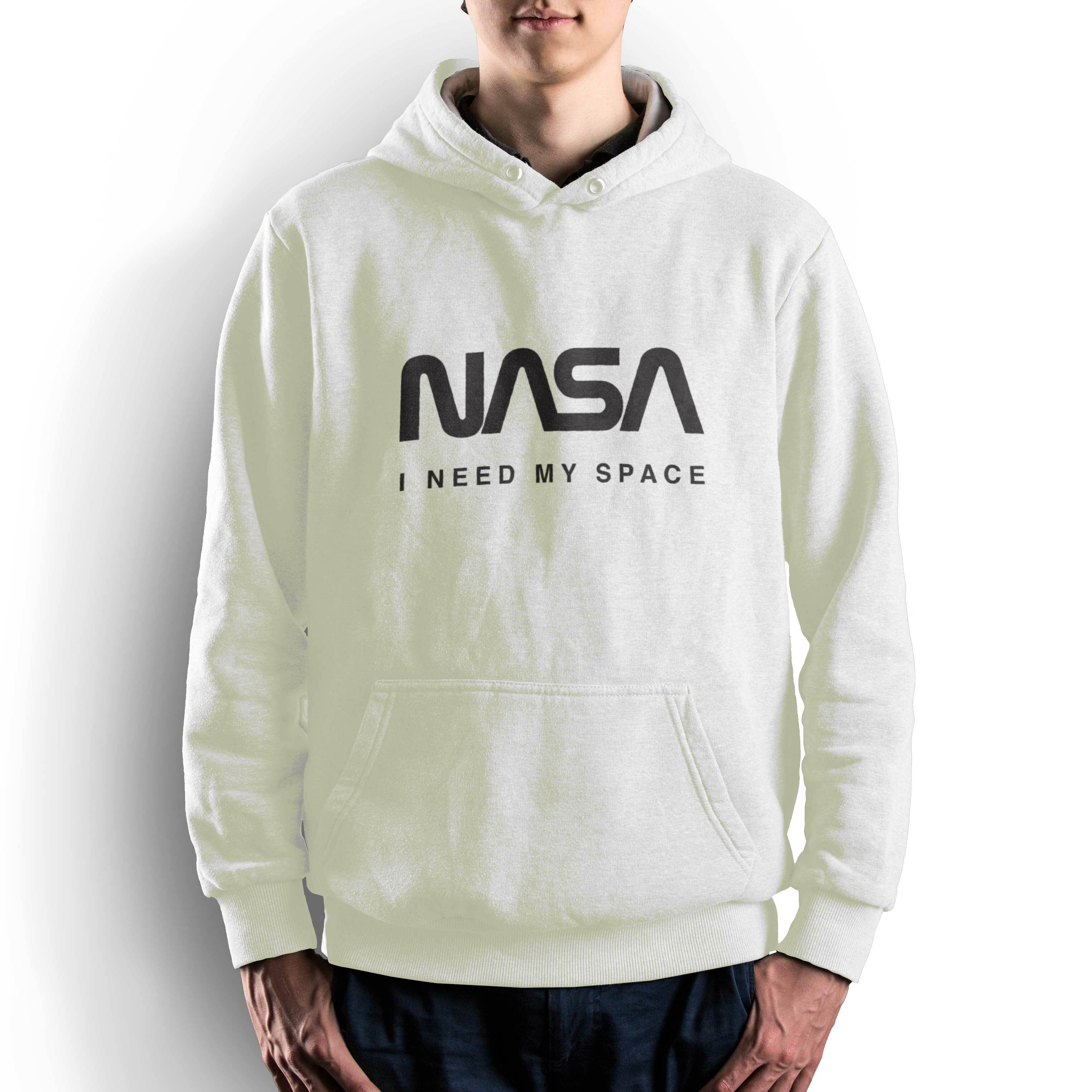 NASA公認(アメリカ航空宇宙局)・パーカー・JERZEES(ジャージーズ)ボディ・ロゴタイプ(ワーム)・ホワイト