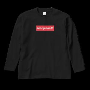 マリファナJPオリジナルロゴデザイン【 ロングスリーブTシャツ】(Box logo Red8色)