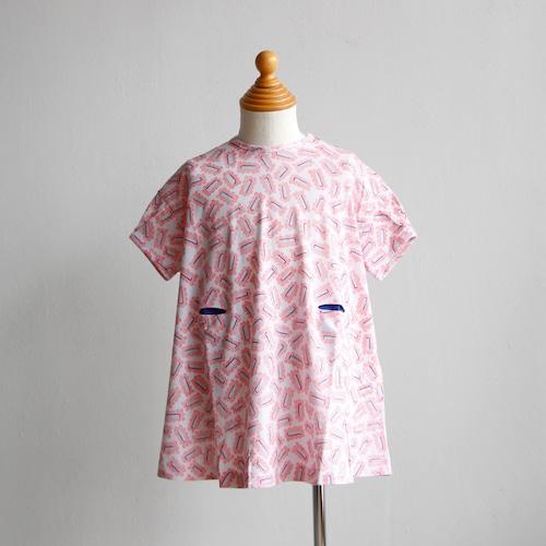 《mina perhonen 2019SS》biscuits ワンピース / pink / 110-140cm