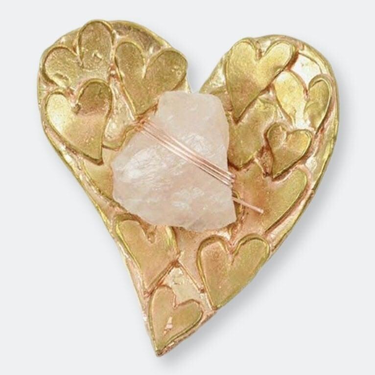 Ariana Ost Rose Quartz Healing Crystal Heart Dish クリスタルハートディッシュ ローズクォーツ