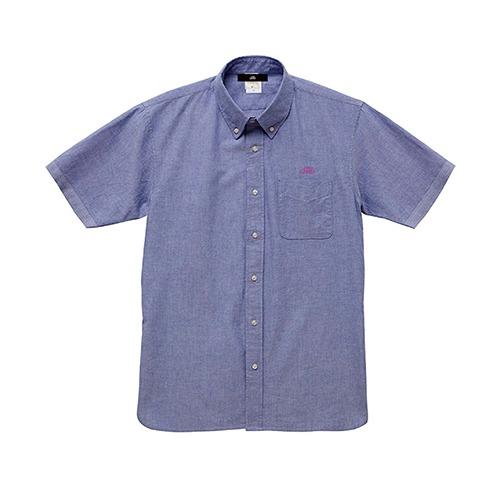 オックスフォード半袖シャツ / ブルー   SINE METU