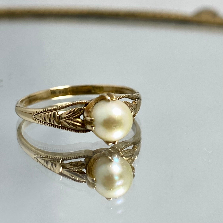 comeback(昭和の懐かしい真珠の指輪)Japanese Traditional ring