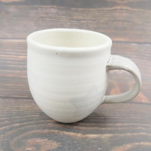 小石原焼 マグカップ トビカンナグレー星 上鶴窯