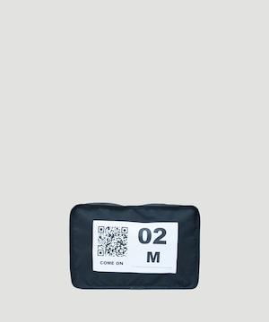 LORINZA No.2 Travel Pouch  (QR) LO-STN-PC02 Black