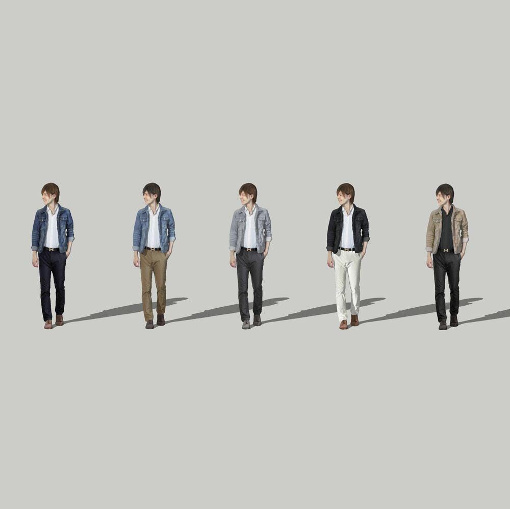 SketchUp素材 3D人物モデル ( Posed ) 087_Ren - 画像2