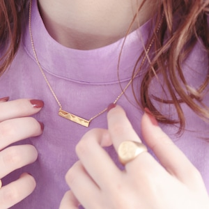 NECKLACE || 【通常商品】 MOUNTAIN PLATE NECKLACE || 1 NECKLACE || GOLD || FBA076
