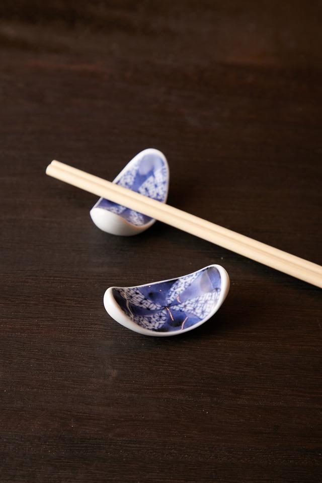梅祥瑞 反楕円 箸置き 日本製 美濃焼【送料無料】