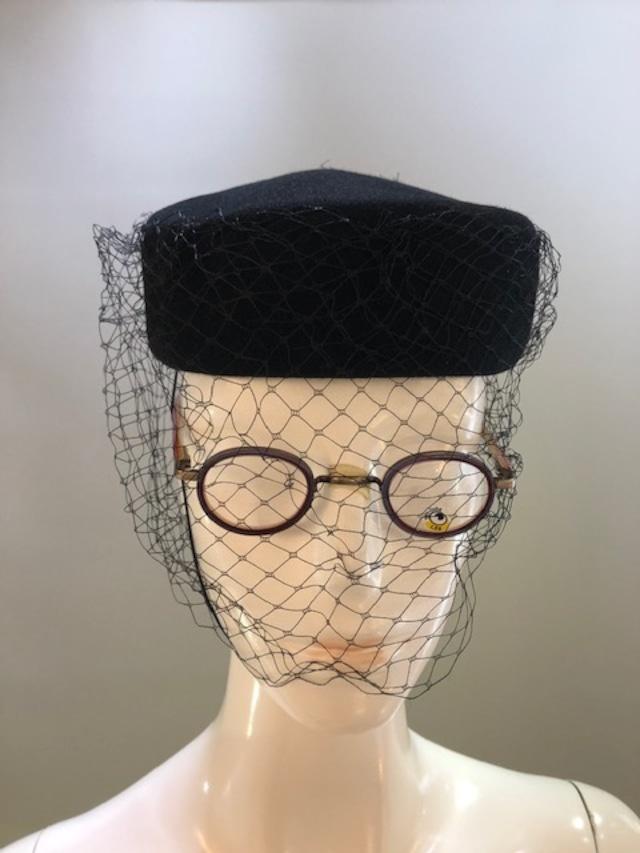 Rafaello Bettini (ラファエロベティーニ)イタリア製 ブラックフォーマルお帽子 5081