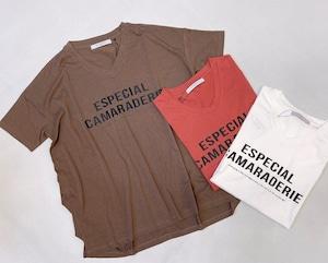 [SALE]AGNOST(アグノスト) シンプルロゴVネック t-shirt  2021夏物新作