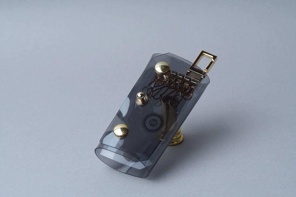 Triple Fold  Key Case  □ブラック・ゴールド□ - 画像1