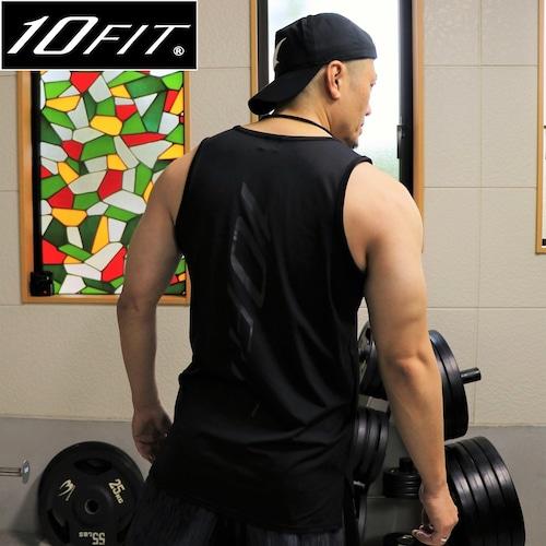 10FIT タンクトップ トレーニング 筋トレ ボディビル メンズ TE-06 黒