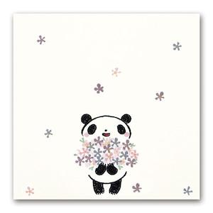 吹出しぽち 花束パンダ