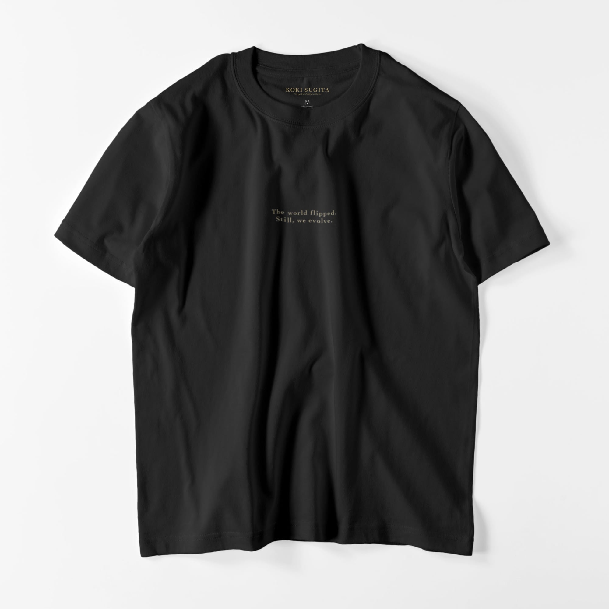 The world flipped. GRAPHIC - T SHIRTS