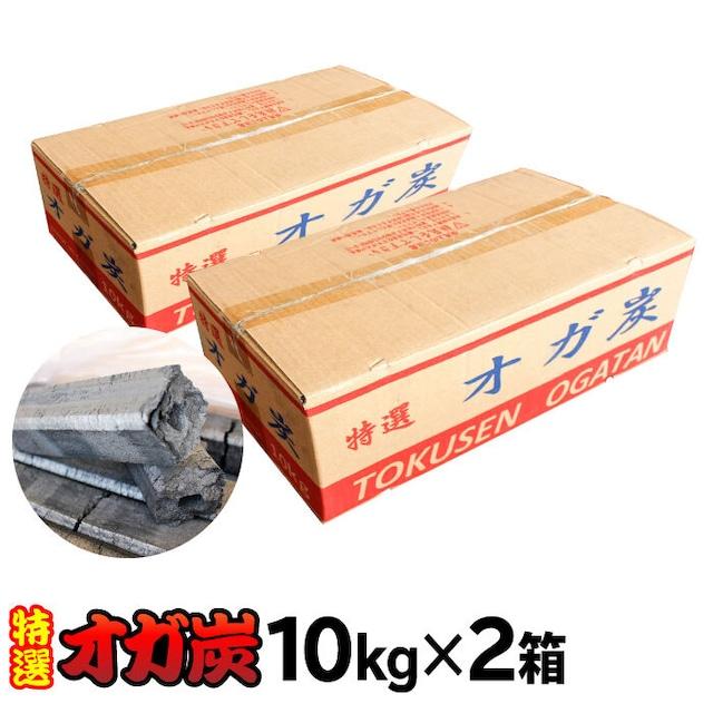 【合計20kg】木炭 炭 オガ炭 特選 10kg バーベキュー 2箱セット  e-0570002
