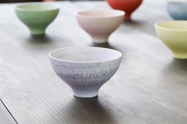 【3A025-08】『珍味入』『トチリ小鉢』『紫』 *カラフルマルチカップ 綺麗な小鉢 カラフル 紫 かわいい入れ物 小物入れ かわいい 万能な器
