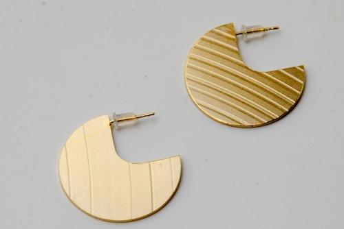 Circle cymbal earrings【ピアス】