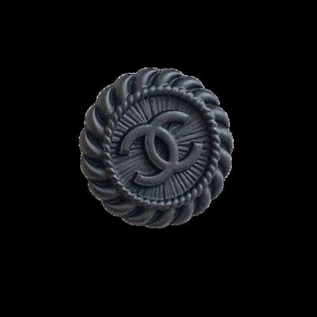 【LAST ONE SALE】マットブラック ココマーク ボタン 22mm C-21064