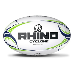 【送料無料】サイクロンXV 練習用ラグビーボール4号球(Cyclone XV Training Rugby Ball【SIZE 4】)