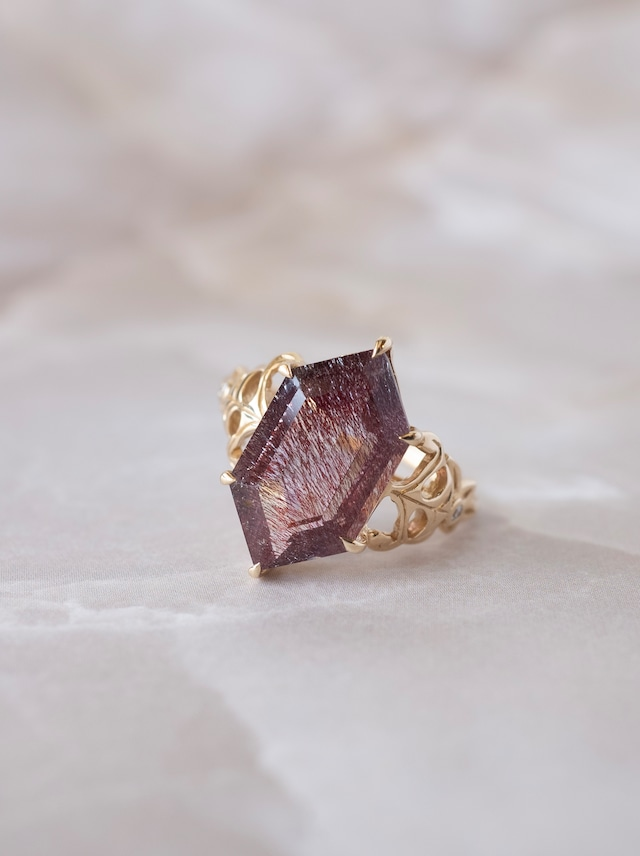 Goethite in Quartz Ring