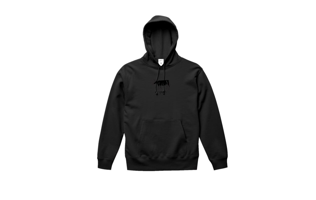coguchi cow hoodie (bk/bk)