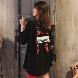 【トップス】キュート図柄プリント韓国系半袖ストリート系カジュアルTシャツ43702554