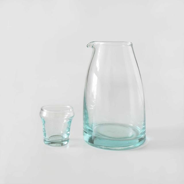 モロッコガラス カラフェ ミニグラス付き M
