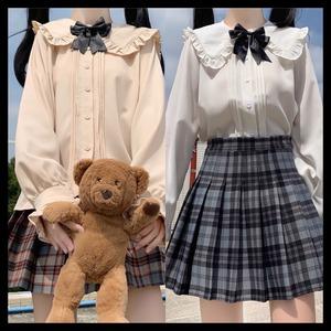 【お取り寄せ】学生風 セーラーカラー チェックスカートセット 2色