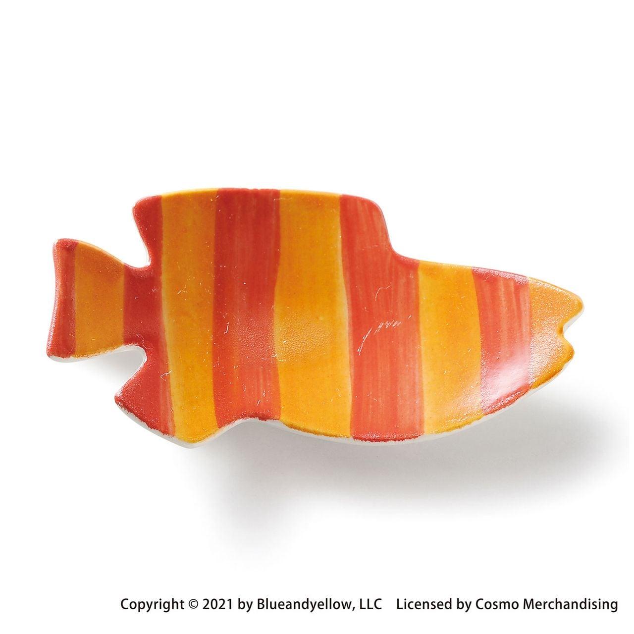 レオ・レオニ 豆皿 小皿 ミニ 皿 約8×4cm スイミー ストライプ 瀬戸焼 278218