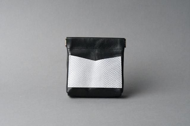 ワンタッチ・コインケース ■ブラック・リザードW■ - メイン画像